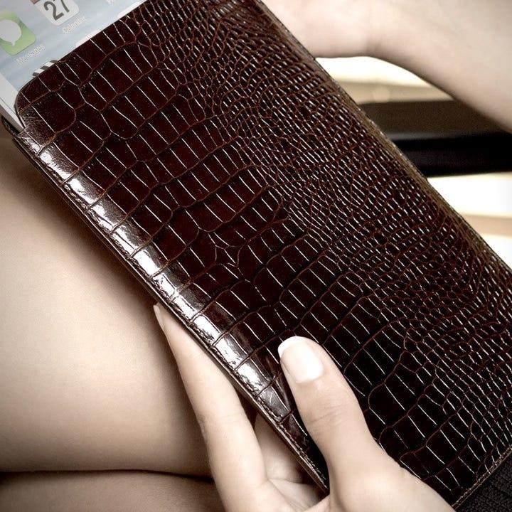 Beschermende Sleeve voor iPad Air - Koningsblauw - Korrelig Leer