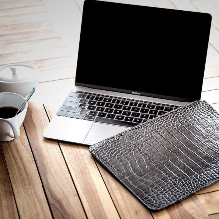 Hoes voor de MacBook 12 - Oranje - Korrelig Leer