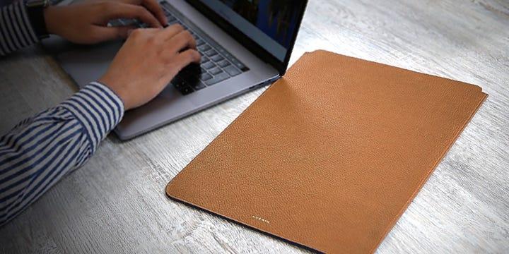 """MacBook Pro 16"""" beschermhoes - Tan - Korrelig Leer"""